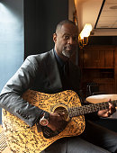 Singer Brian McKnight poses for a portrait during the Stand With Songwriters Advocacy Day ASCAP Foundation Roundtable in the Dirksen Senate Office...