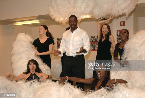 Singer Brian McKnight rehearses for his Broadway debut as Billy Flynn in 'Chicago' at MTC Studios on October 2 2007 in New York City