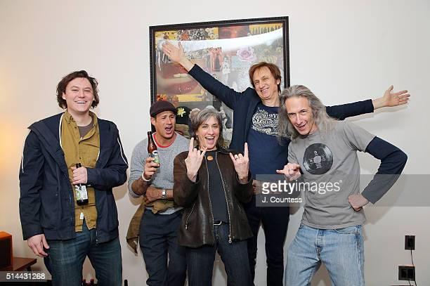 Singer Brian Sella founder of Dogfish Head Craft Brewery Sam Calagione director Wendy Schneider manager of Record Store Day Michael Kurtz and...