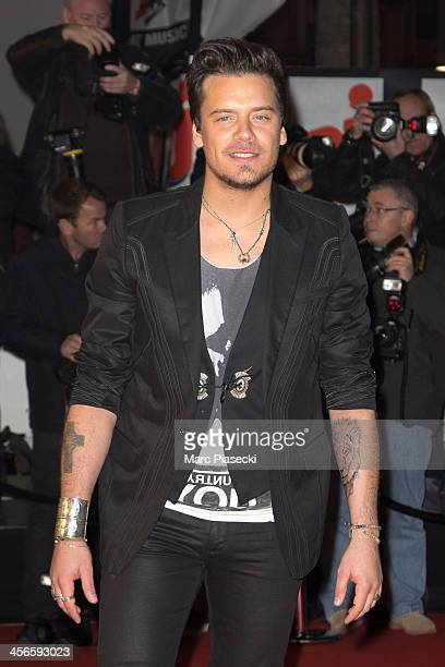 Singer Brice Conrad attends the 15th NRJ Music Awards at Palais des Festivals on December 14 2013 in Cannes France
