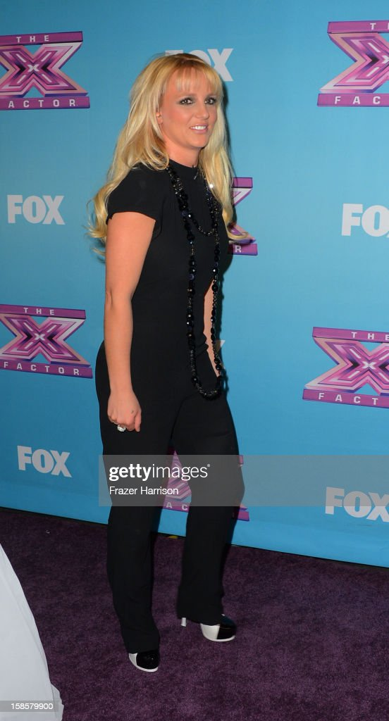 Singer Britney Spears arrives at Fox's 'The X Factor' Season Finale Night 1 at CBS Television City on December 19, 2012 in Los Angeles, California.