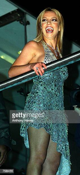 Singer Britney Spears arrives at the British premiere of her debut film 'Crossroads' March 25 2002 in London