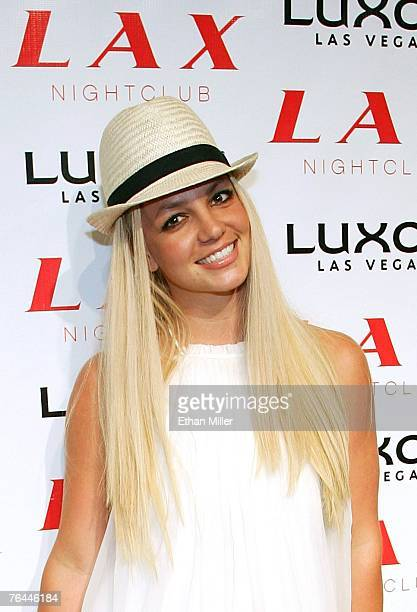 Singer Britney Spears arrives at the grand opening of the LAX Nightclub at the Luxor Resort Casino early September 1 2007 in Las Vegas Nevada