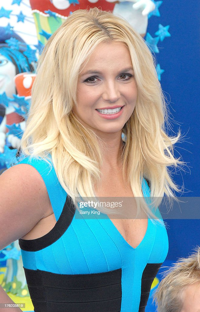 Singer <a gi-track='captionPersonalityLinkClicked' href=/galleries/search?phrase=Britney+Spears&family=editorial&specificpeople=156415 ng-click='$event.stopPropagation()'>Britney Spears</a> arrives at the Los Angeles Premiere 'Smurfs 2' on July 28, 2013 at Regency Village Theatre in Westwood, California.