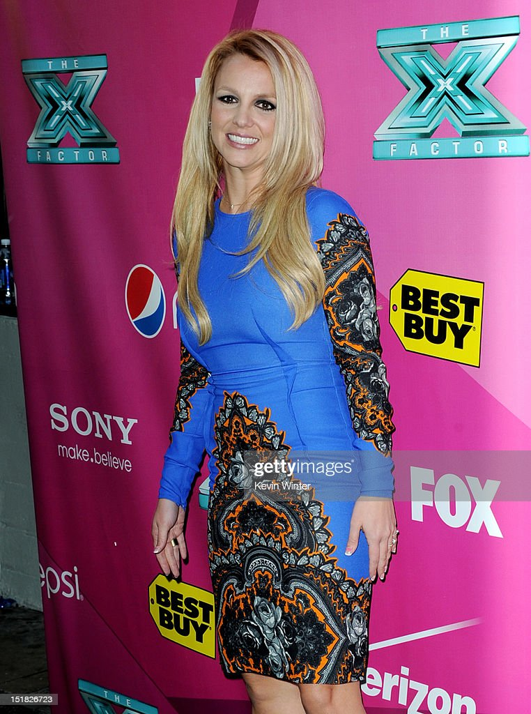 Singer <a gi-track='captionPersonalityLinkClicked' href=/galleries/search?phrase=Britney+Spears&family=editorial&specificpeople=156415 ng-click='$event.stopPropagation()'>Britney Spears</a> arrives at the premiere of Fox's 'The X Factor' Season 2 and handprint ceremony at the Chinese Theatre on September 11, 2012 in Los Angeles, California.