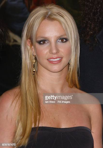 Singer Britney Spears arrives for the Pepsi Gladiator TV Commercial global premiere at the National Gallery in Trafalgar Square London