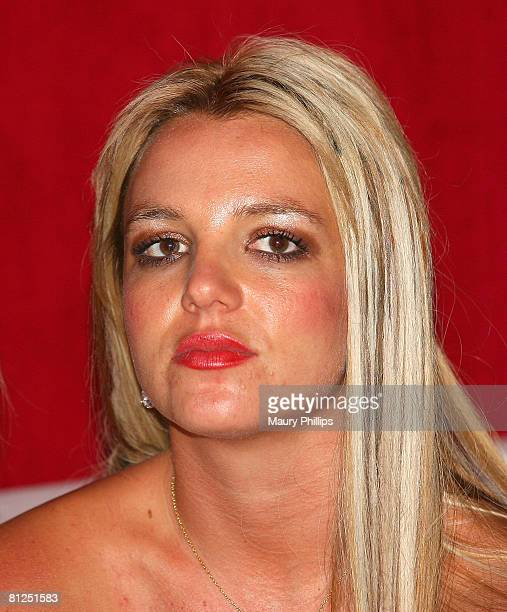 Singer Britney Spears attends Christian Audigier's 50th birthday bash on May 23 2008 at the Peterson Automotive Museum in Los Angeles California