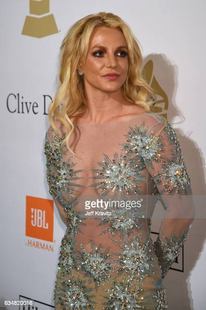 Singer Britney Spears attends the 2017 PreGRAMMY Gala And Salute to Industry Icons Honoring Debra Lee at The Beverly Hilton Hotel on February 11 2017...