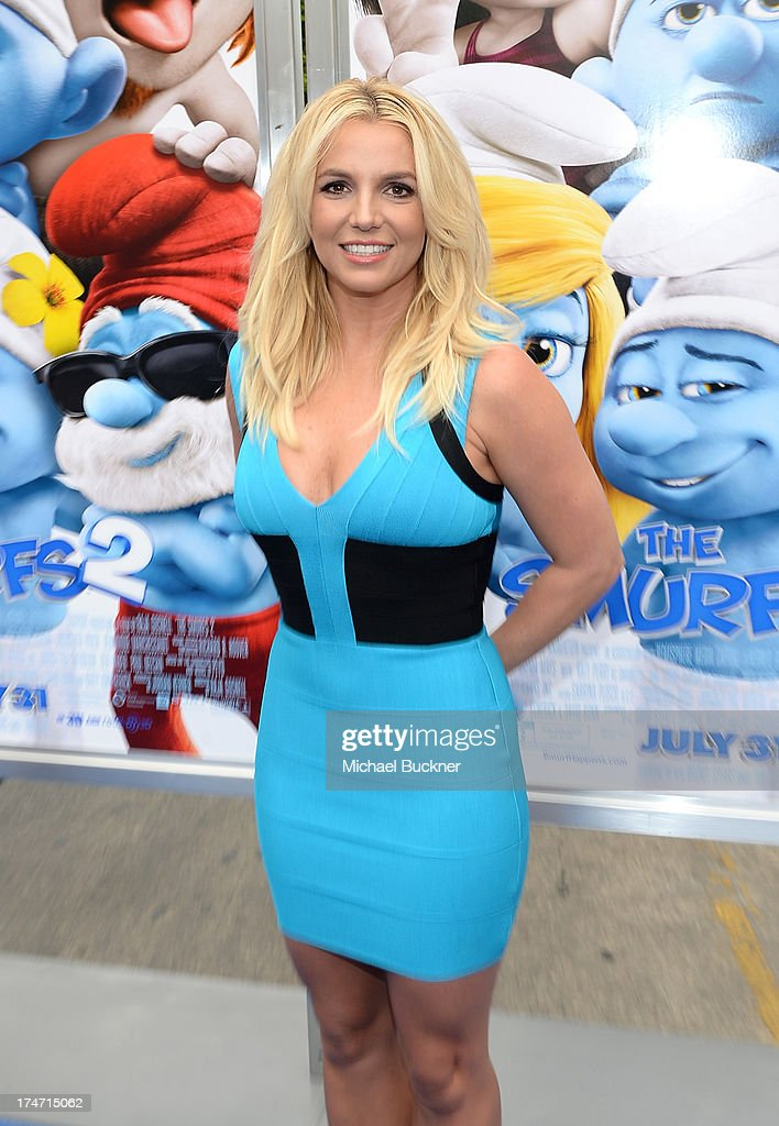 Singer <a gi-track='captionPersonalityLinkClicked' href=/galleries/search?phrase=Britney+Spears&family=editorial&specificpeople=156415 ng-click='$event.stopPropagation()'>Britney Spears</a> attends the Los Angeles premiere of 'The Smurfs 2' at Regency Village Theatre on July 28, 2013 in Westwood, California.