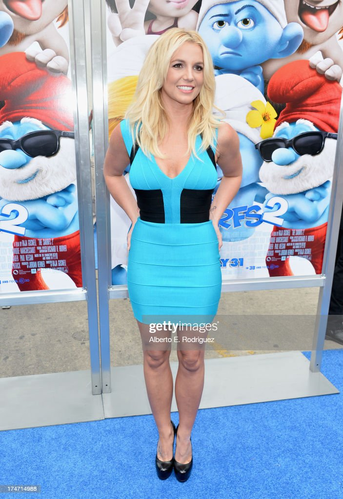 Singer <a gi-track='captionPersonalityLinkClicked' href=/galleries/search?phrase=Britney+Spears&family=editorial&specificpeople=156415 ng-click='$event.stopPropagation()'>Britney Spears</a> attends the premiere Of Columbia Pictures' 'Smurfs 2' at Regency Village Theatre on July 28, 2013 in Westwood, California.