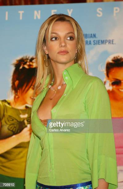 Singer Britney Spears attends the promotion of her new movie Crossroads at Hotel Palace March 21 2002 in Madrid Spain