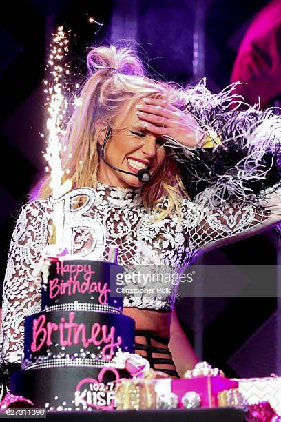 Singer Britney Spears performs at the 1027 KIIS FM's Jingle Ball 2016 on December 02 2016 in Los Angeles California