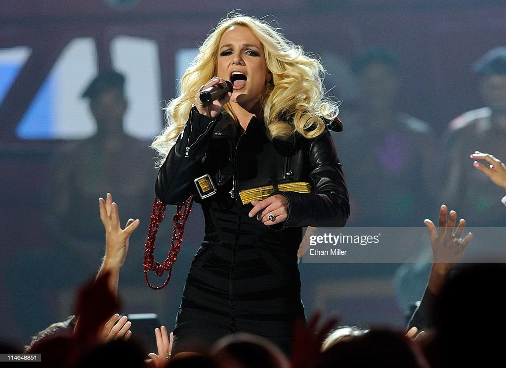 Singer Britney Spears performs during the 2011 Billboard Music Awards at the MGM Grand Garden Arena May 22 2011 in Las Vegas Nevada