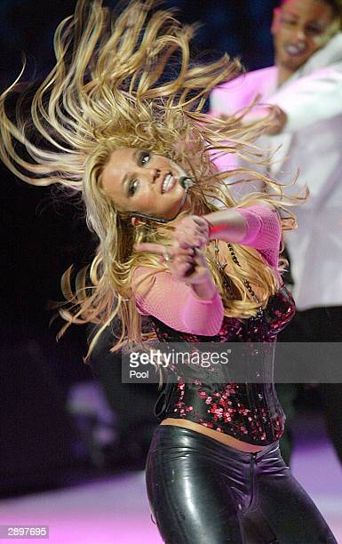 Singer Britney Spears performs during the NRJ Music Awards ceremony January 24 2004 in Cannes southern France