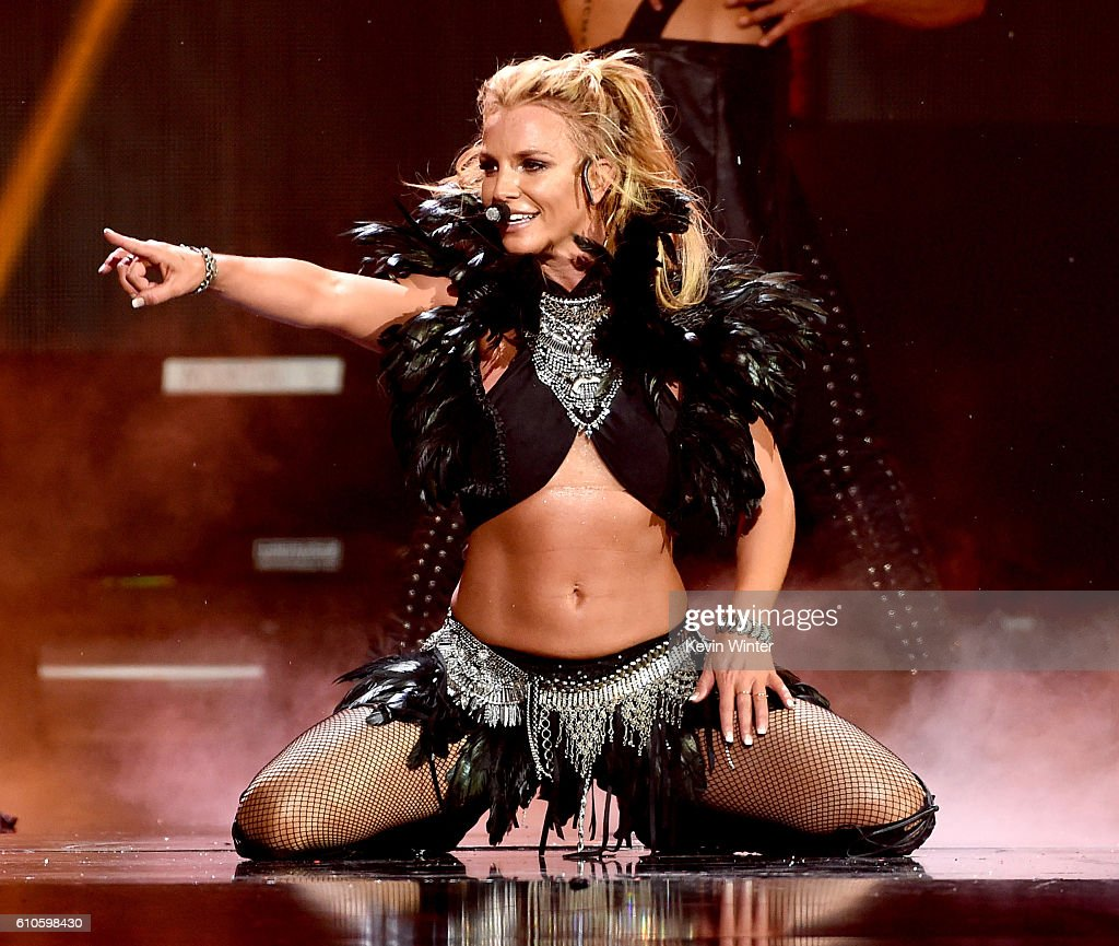 Singer Britney Spears performs onstage at the iHeartRadio Music Festival at T-Mobile Arena on September 24, 2016 in Las Vegas, Nevada.