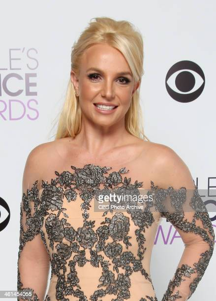 Singer Britney Spears poses in the CBS/People's Choice Awards Photo Booth during The 40th Annual People's Choice Awards at Nokia Theatre LA Live on...