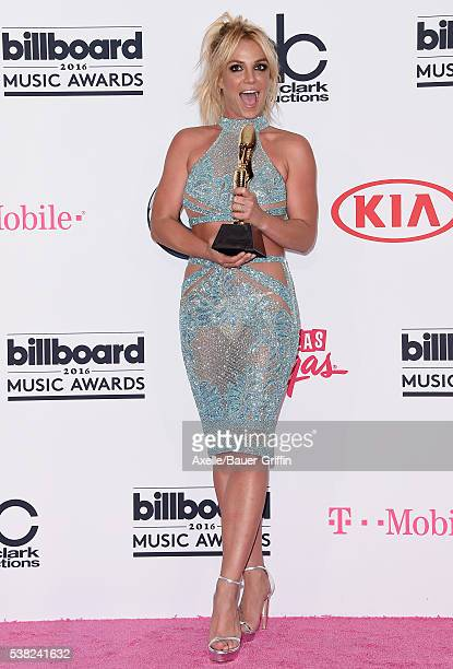 Singer Britney Spears poses in the press room at the 2016 Billboard Music Awards at TMobile Arena on May 22 2016 in Las Vegas Nevada