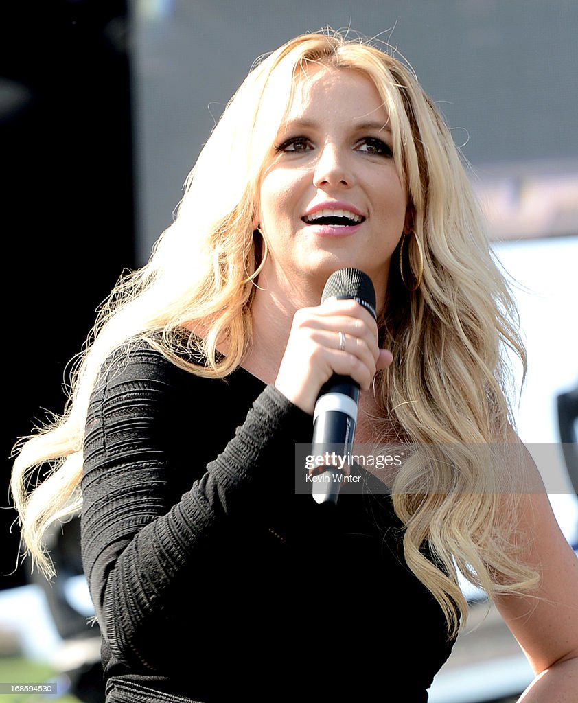 Singer Britney Spears speaks onstage at 102.7 KIIS FM's Wango Tango on May 11, 2013 in Carson, California.