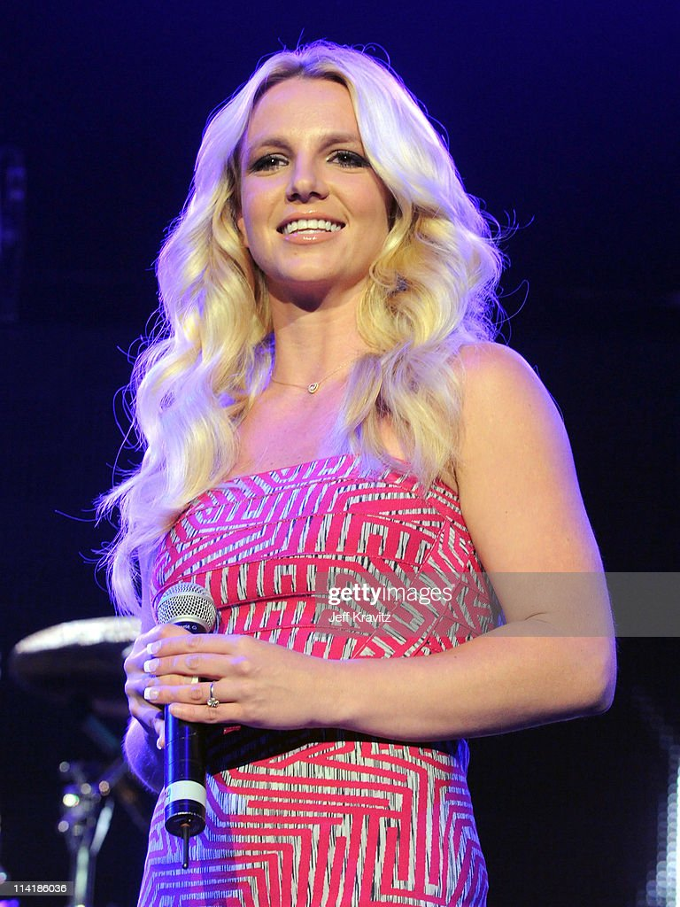 Singer Britney Spears speaks onstage at 102.7 KIIS FM's Wango Tango 2011 Concert at Staples Center on May 14, 2011 in Los Angeles, California.