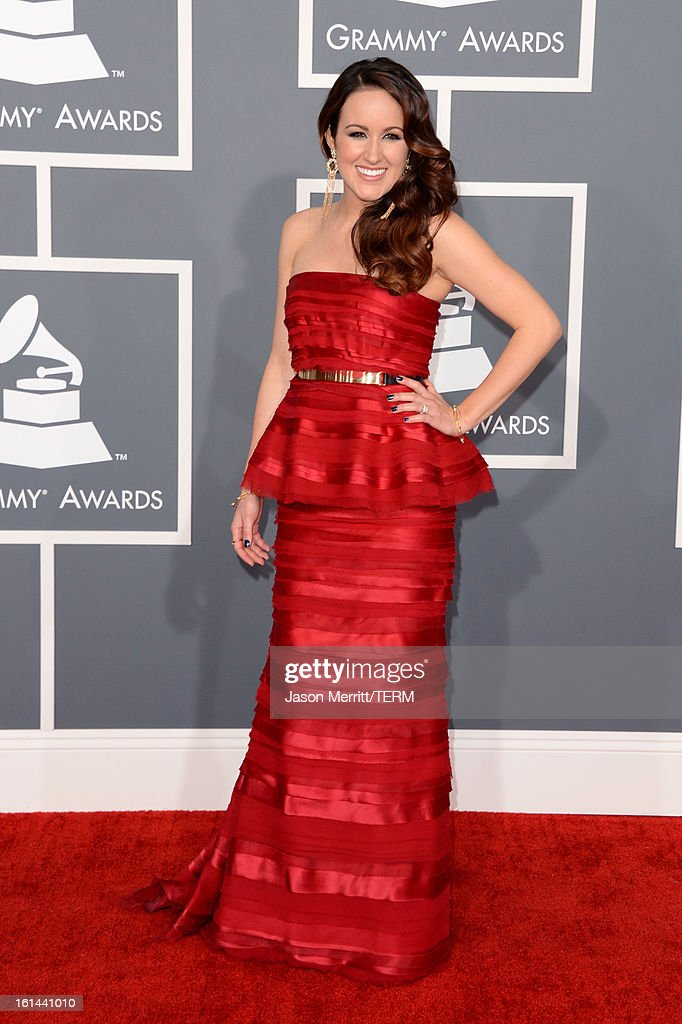Singer Britt Nicole arrives at the 55th Annual GRAMMY Awards at Staples Center on February 10, 2013 in Los Angeles, California.