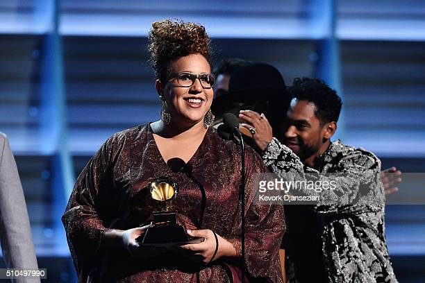 Singer Brittany Howard of Alabama Shakes accepts the award for Best Rock Performance for 'Don't Wanna Fight' onstage during The 58th GRAMMY Awards at...