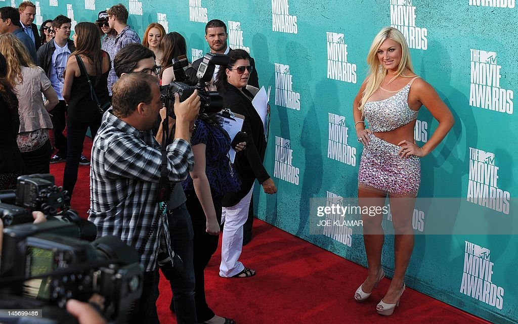 Singer Brooke Hogan arrives at the MTV Movie Awards at Universal Studios, in Los Angeles, California, on June 3, 2012.