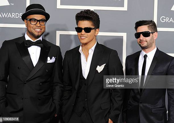 Singer Bruno Mars and the Smeezingtons arrive at The 53rd Annual GRAMMY Awards held at Staples Center on February 13 2011 in Los Angeles California