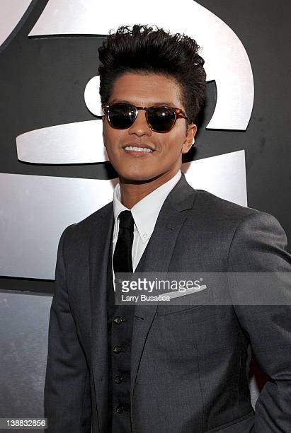 Singer Bruno Mars arrives at the 54th Annual GRAMMY Awards held at Staples Center on February 12 2012 in Los Angeles California