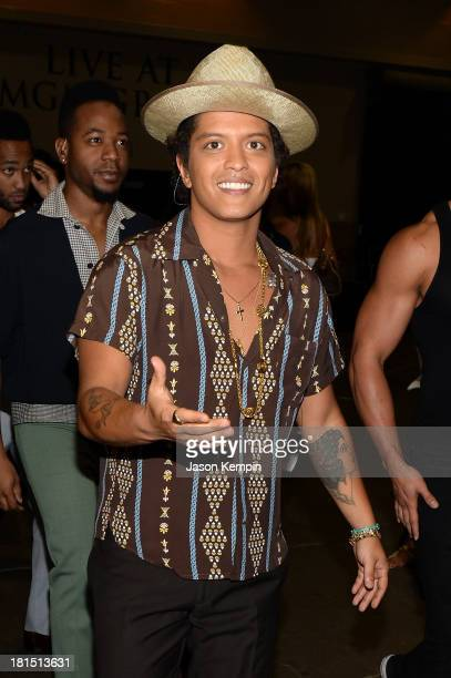 Singer Bruno Mars attends the iHeartRadio Music Festival at the MGM Grand Garden Arena on September 21 2013 in Las Vegas Nevada