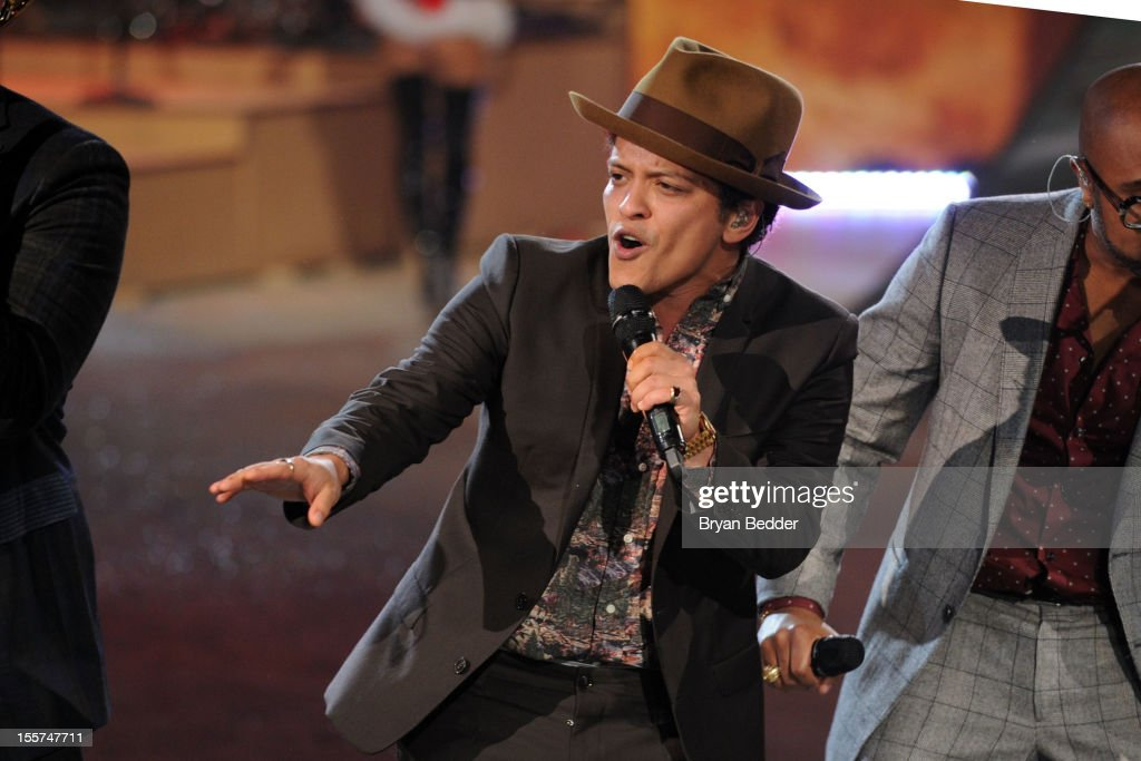 Singer Bruno Mars during the Victoria's Secret 2012 Fashion Show on November 7, 2012 in New York City.