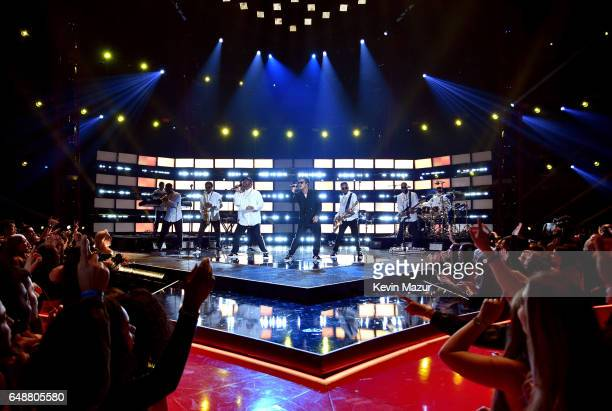 Singer Bruno Mars performs onstage at the 2017 iHeartRadio Music Awards which broadcast live on Turner's TBS TNT and truTV at The Forum on March 5...