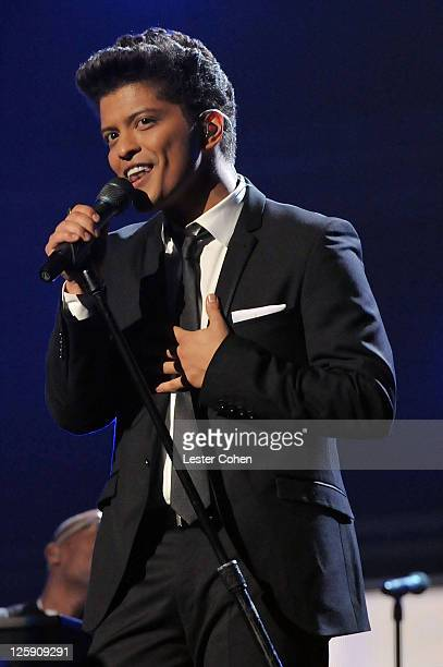Singer Bruno Mars performs onstage during The 53rd Annual GRAMMY Awards held at Staples Center on February 13 2011 in Los Angeles California