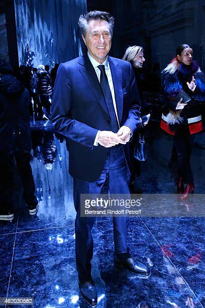 Singer Bryan Ferry attends the Berluti Menswear Fall/Winter 20152016 Show as part of Paris Fashion Week Held at Musee des Arts Decoratifs on January...
