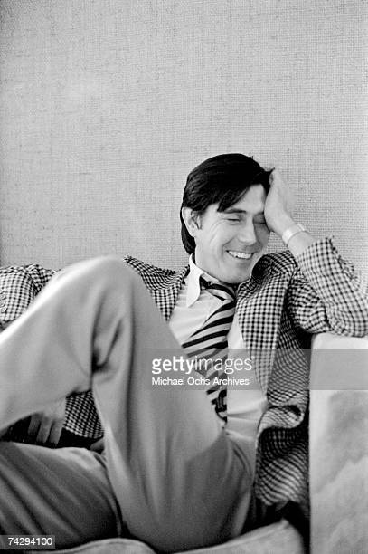 Singer Bryan Ferry of Roxy Music poses for a portrait in March 1975 in Los Angeles California