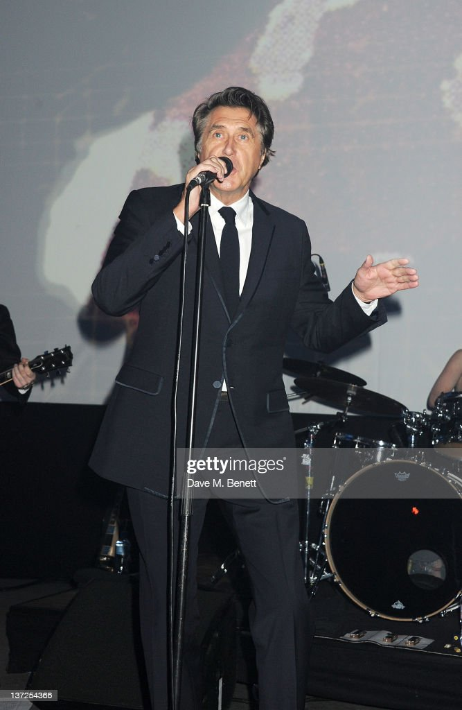 Singer <a gi-track='captionPersonalityLinkClicked' href=/galleries/search?phrase=Bryan+Ferry&family=editorial&specificpeople=206306 ng-click='$event.stopPropagation()'>Bryan Ferry</a> performs at the IWC Top Gun Gala Event at 22nd SIHH High Jewellery Fair on at the Palexpo Exhibition Hall January 17, 2012 in Geneva, Switzerland.
