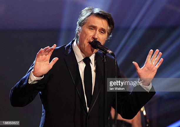 Singer Bryan Ferry performs on stage at the 2012 Laureus World Sports Awards at Central Hall Westminster on February 6 2012 in London England