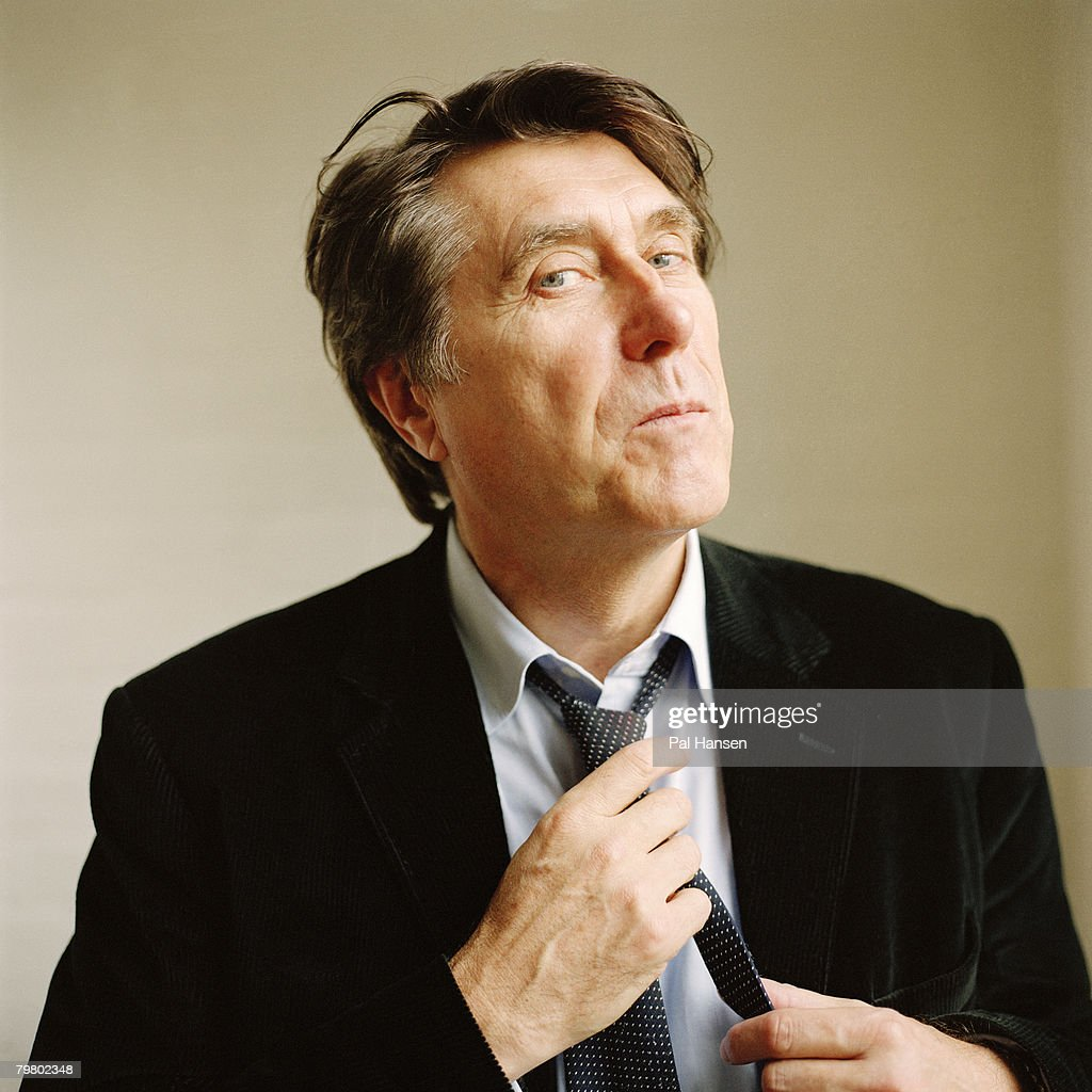 Singer Bryan Ferry poses for a portrait shoot for the Sunday Times in London on January 17, 2007.