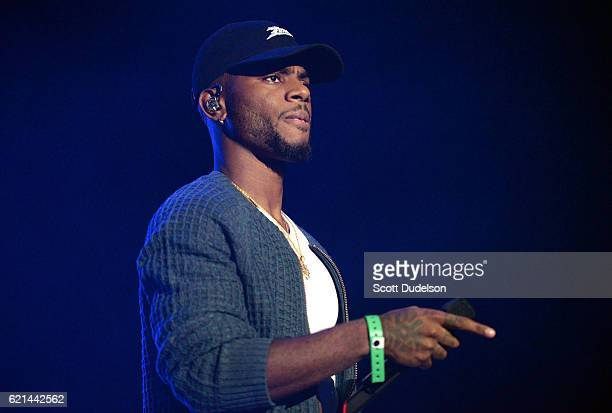 Singer Bryson Tiller performs onstage during the 923 Real Show at The Forum on November 5 2016 in Inglewood California