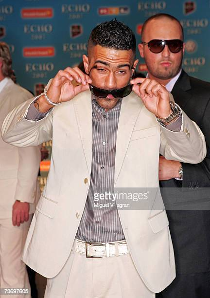 Singer Bushido arrives at the Echo Music Awards on March 25 2007 in Berlin Germany