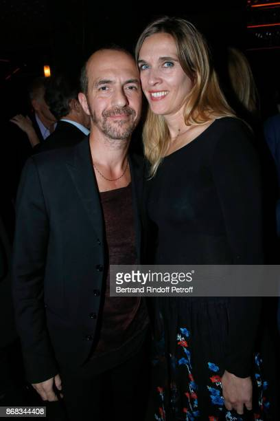 Singer Calogero and his companion Marie Bastide attend Claude Lelouch celebrates his 80th Birthday at Restaurant Victoria on October 30 2017 in Paris...