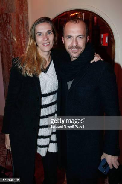 Singer Calogero and his companion Marie Bastide attend 'Depardieu Chante Barbara' at Le Cirque d'Hiver on November 7 2017 in Paris France