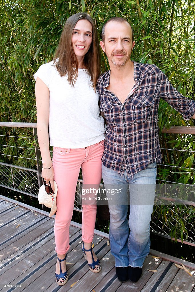 Singer Calogero and his wife Marie attend the 2015 Roland Garros French Tennis Open - Day Thirteen, on June 5, 2015 in Paris, France.