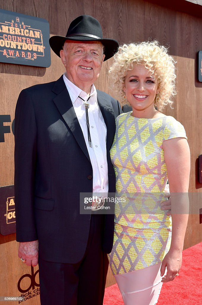 Singer Cam (R) and grandfather Richard Sinclair attend the 2016 American Country Countdown Awards at The Forum on May 1, 2016 in Inglewood, California.