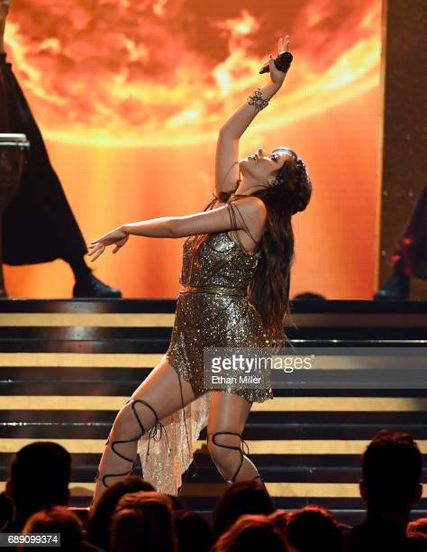 Singer Camila Cabello performs during the 2017 Billboard Music Awards at TMobile Arena on May 21 2017 in Las Vegas Nevada
