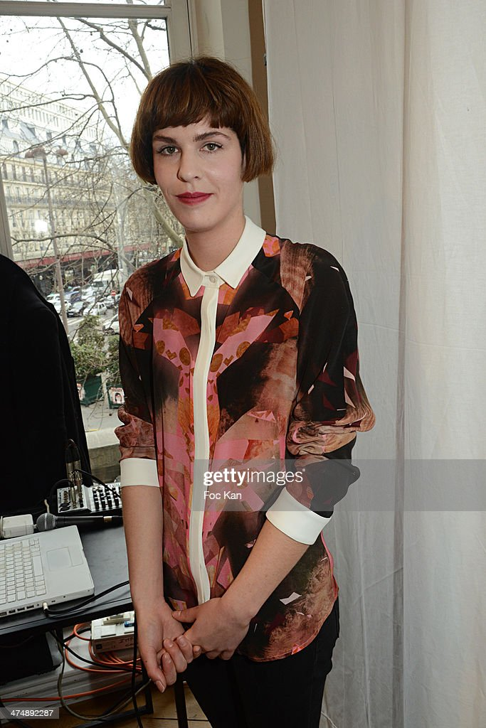 Singer Camille Despres from Thylacine Band attends the Christine Phung show as part of the Paris Fashion Week Womenswear Fall/Winter 20142015 on...