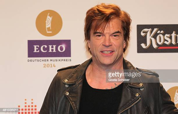 Singer Campino of the band Die Toten Hosen poses on the red carpet prior the Echo award 2014 at Messe Berlin on March 27 2014 in Berlin Germany