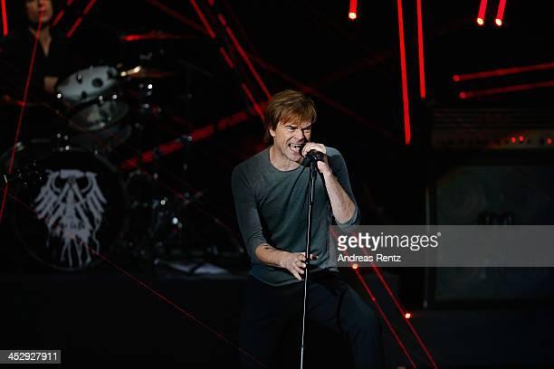 Singer Campino of the German band Die Toten Hosen performs on stage during the '2013 Menschen Bilder Emotionen' RTLJahresrueckblick on December 1...