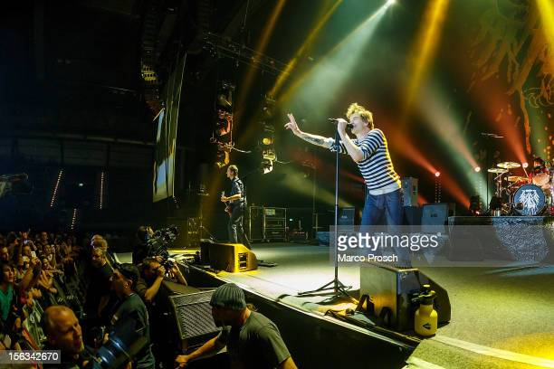 Singer Campino of the German punk band Die Toten Hosen performs live at the Arena on November 13 2012 in Leipzig Germany