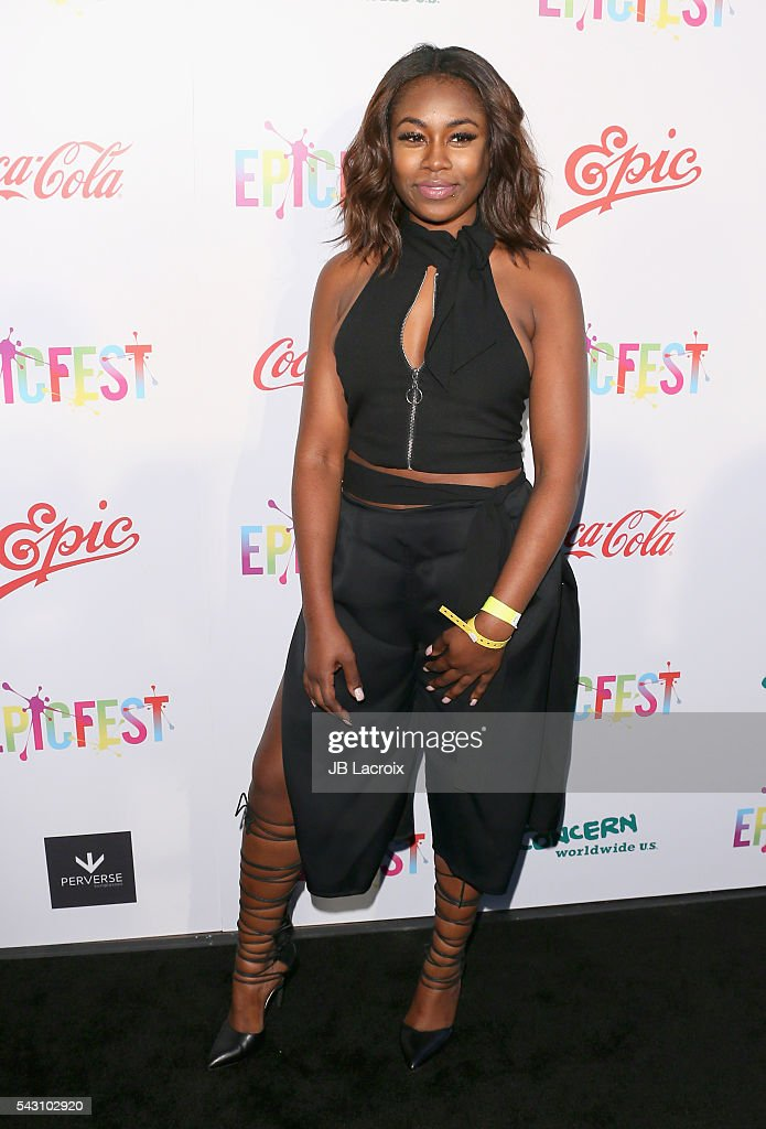 Singer Candice Boyd attends EpicFest 2016 hosted by L.A. Reid and Epic Records at Sony Studios on June 25, 2016 in Los Angeles, California.