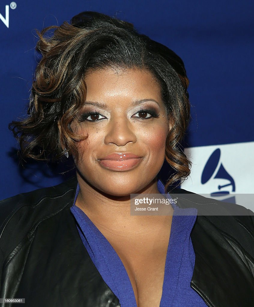 Singer Candice Nelson attends The 55th Annual GRAMMY Awards - Music Preservation Project 'Play It Forward' Celebration highlighting The GRAMMY Foundations ongoing work to safegaurd music's history at the Saban Theatre on February 7, 2013 in Los Angeles, California.